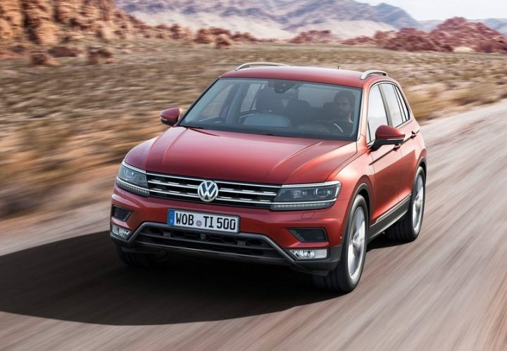 Volkswagen Tiguan on road