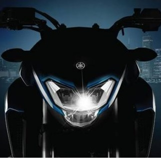 Yamaha 250 cc teaser image of headlight