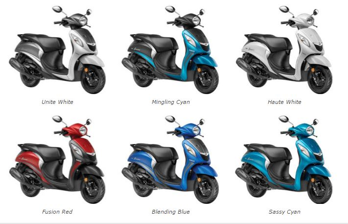 Yamaha Fascino Colors