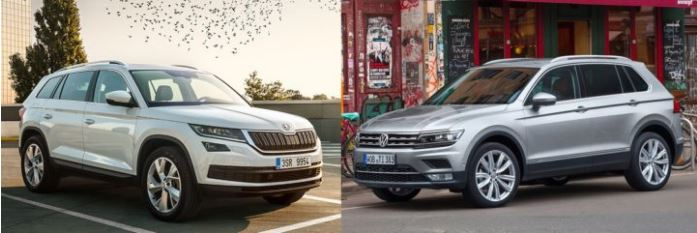 skoda kodiaq vs volkswagen tiguan price specs mileage dimensions design comparison. Black Bedroom Furniture Sets. Home Design Ideas