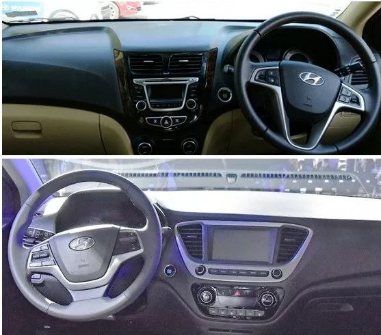 Verna new vs old interiors