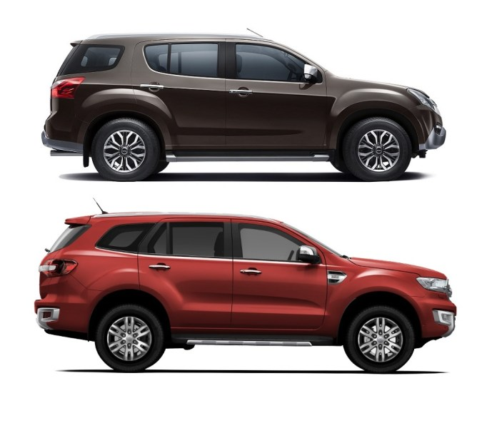 isuzu mu x vs ford endeavour price specs dimensions features design suv with manual transmission 2019 suvs with manual transmissions 2016