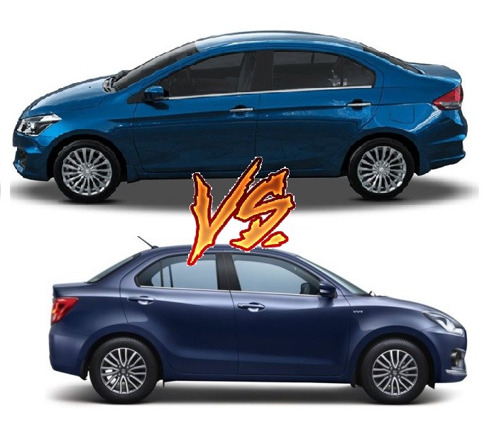 new-2017-maruti-dzire-vs-maruti-ciaz-comparison-side-profile