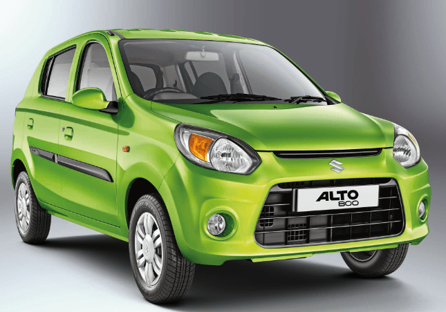 2016-Maruti-Alto-800-Green-colour-front-side-view