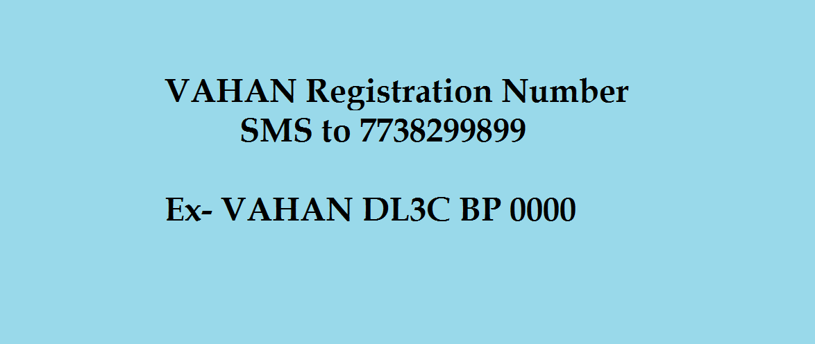 Registration Details of vehicle via sms