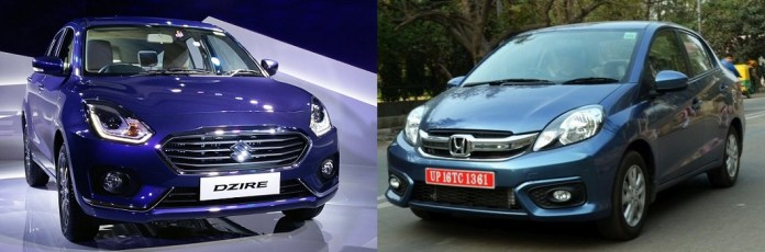 new-2017-maruti-dzire-vs-honda-amaze-comparison-front-angle