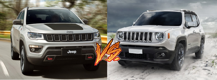 jeep compass vs jeep renegade price specifications mileage comparison. Black Bedroom Furniture Sets. Home Design Ideas