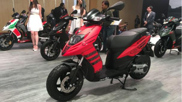 Aprilia Storm India Unveiled at 2018 Auto Expo: Launch Soon